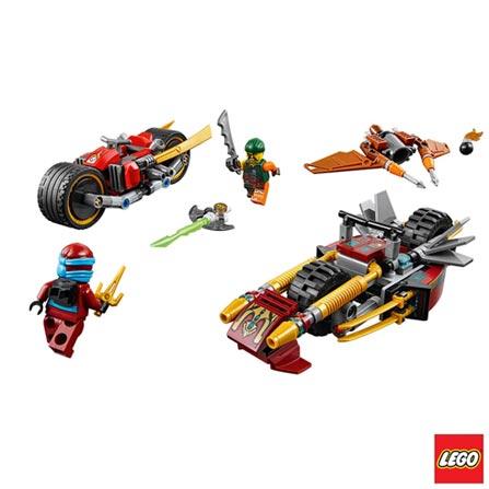 70600 - LEGO Ninjago - Perseguicao de Motocicleta Ninja, Não se aplica, A partir de 07 anos, 231, 03 meses, Lego