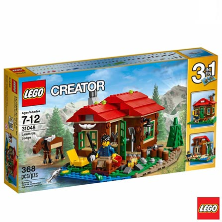 31048 - LEGO Creator - Casa do Lago, Não se aplica, A partir de 07 anos, 368, 03 meses, Lego