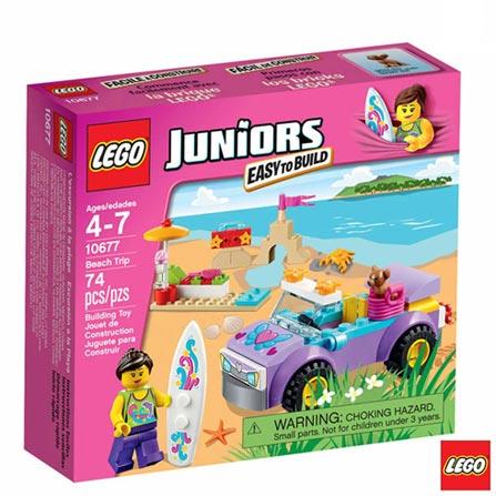 10677 - LEGO Juniors - Passeio pela Praia, Não se aplica, A partir de 04 anos, 74, 03 meses, Lego