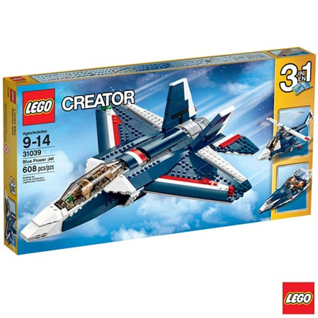 , Azul, A partir de 09 anos, 608, 03 meses, Lego