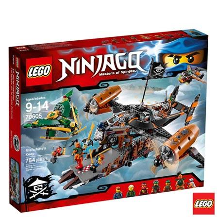 70605 - LEGO Ninjago - Fortaleza do Infortunio, Não se aplica, A partir de 09 anos, 754, 03 meses, Lego