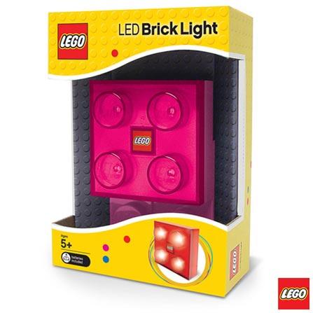 LGL-BP2G - LEGO Led Lighting - Bloco Luminoso Rosa, Não se aplica, A partir de 05 anos, 1, 03 meses, Lego