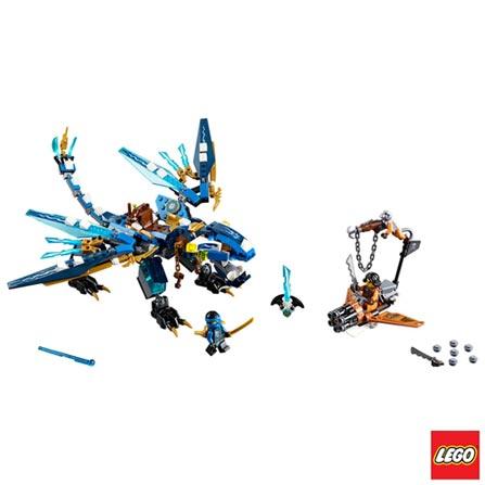 70602 - LEGO Ninjago - Dragao Elemental do Jay, Não se aplica, A partir de 07 anos, 350, 03 meses, Lego