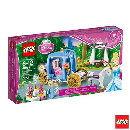 41053 - LEGO Brand Disney Princess - A Carruagem Encantada da Cinderela, Não se aplica, A partir de 06 anos, 274, 03 meses, Lego