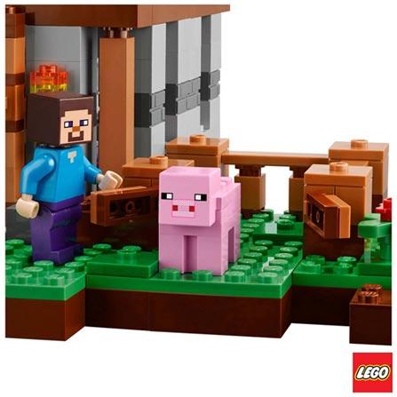 21115 - LEGO Minecraft Creative Adventure - A Primeira Noite, Não se aplica, A partir de 08 anos, 408, 03 meses, Lego