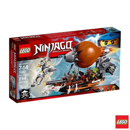 70603 - LEGO Ninjago - Zepelim de Ataque, Não se aplica, A partir de 07 anos, 294, 03 meses, Lego