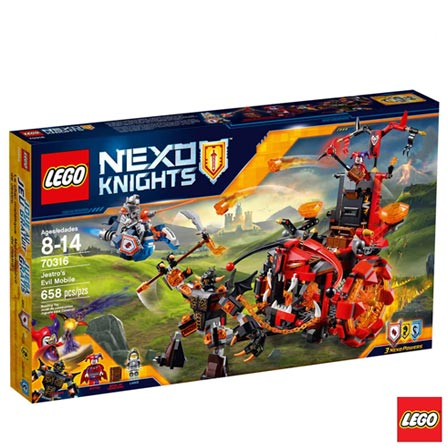 70316 - LEGO Nexo Knights - O Terrivel Carro do Jestro, Não se aplica, A partir de 08 anos, 658, 03 meses, Lego