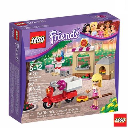 41092 - LEGO Friends - A Pizzaria da Stephanie, Não se aplica, A partir de 05 anos, 87, 03 meses, Lego