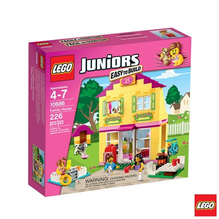 10686 - LEGO Juniors Casa da Familia, Não se aplica, A partir de 04 anos, 226, 03 meses, Lego
