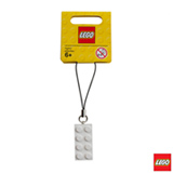 LEGO - Pingente Bloco 2x4 Branco