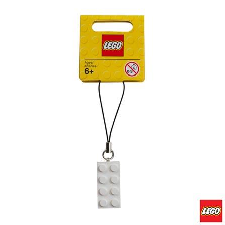 LEGO - Pingente Bloco 2x4 Branco, Não se aplica, A partir de 06 anos, 1, 03 meses, Lego