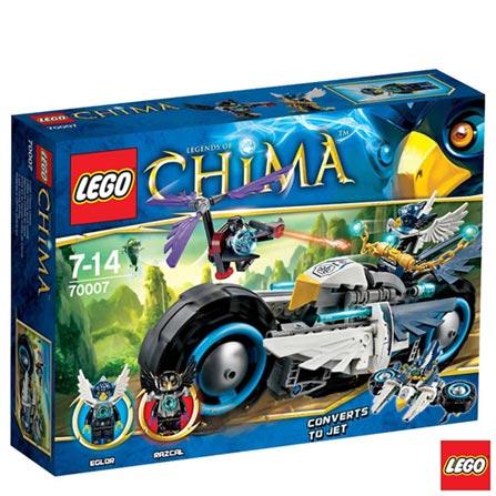 70007 - LEGO Chima - A Dupla Motocicleta de Eglor, Não se aplica, A partir de 07 anos, 223, 03 meses, Lego