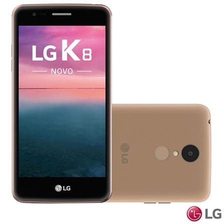 Smartphone LG K8 Novo Dourado Dual com Tela de 5.0