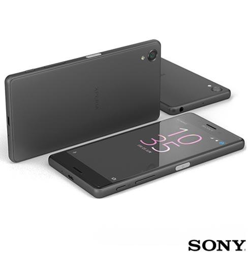 Xperia X Dual Preto Sony com Tela de 5