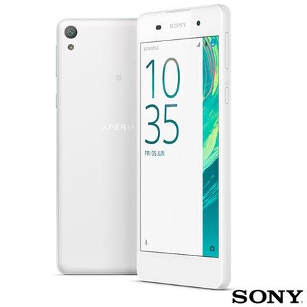 , Branco, Acima de 4'', 12 meses, Android, Quad Core 1.3 GHz, Sim, Sim, Wi-Fi + 4G, Sim, 13.0 MP, 16 GB, 5'', 1, Não, Xperia E5, Sony