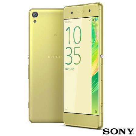 Xperia XA Dual Dourado Sony com Tela Curva de 5
