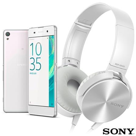 Xperia XA Dual Sony Branco com Tela de 5