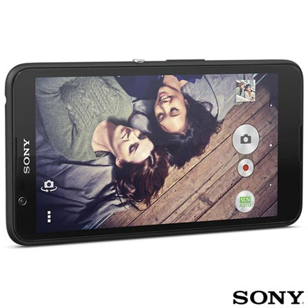 """Xperia E4 Dual Preto Sony, Tela de 5"""", 3G, 8 GB e Câmera de 5MP, Preto, Acima de 4'', Sim, 12 meses, Android, Sim, Quad Core 1.3 GHz, Sim, Sim, 3G, Sim, 5.0 MP, 08 GB, 5'', 2, Sim, Xperia E4, Sony"""