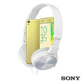Xperia XA Dual Sony Dourado com Tela de 5', 4G e 16GB + Headphone Sony Branco com Microfone Integrado MDRX-ZX310AP
