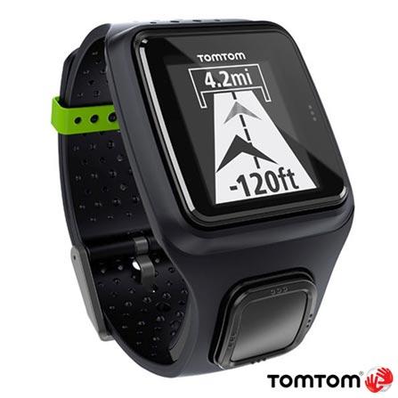 Relogio Tomtom Runner Preto com GPS, Preto, 12 meses, Tomtom, Sim, Relógio