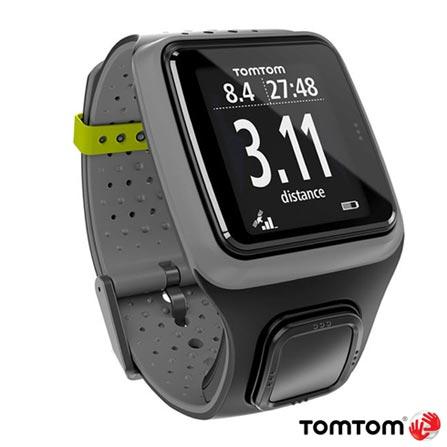 Relogio TomTom MultiSport Cinza com GPS, Cinza, 12 meses, Tomtom, Sim, Relógio