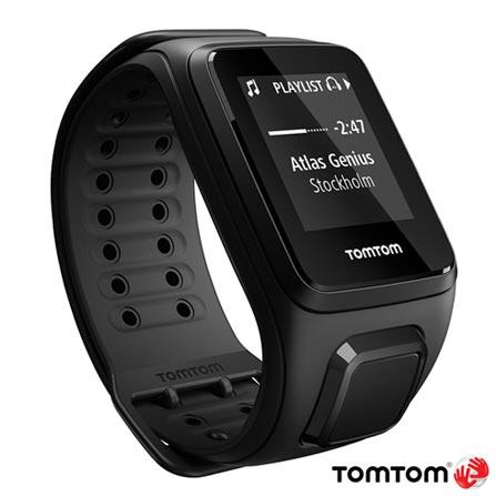 Relogio TomTom Spark Music Preto Large com Fone Bluetooth, Preto, 12 meses, Tomtom, Sim, Relógio