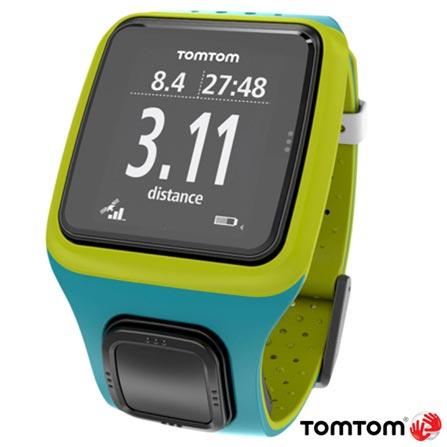 Relogio TomTom Runner Turquesa e Verde com GPS, Turquesa, 12 meses, Tomtom, Sim, Relógio