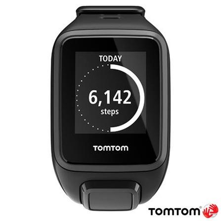 Relogio TomTom Spark Cardio + Music Preto Small com GPS, Preto, 12 meses, Tomtom, Sim, Relógio