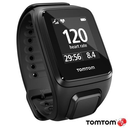 Relogio TomTom Spark Cardio Preto Large com GPS, Preto, 12 meses, Tomtom, Sim, Relógio