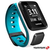 Relogio TomTom Runner 2 Cardio Branco e Azul Small com GPS