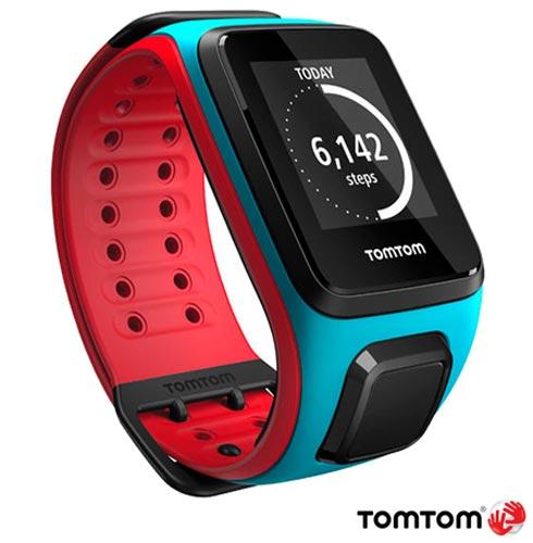 , Azul e Vermelho, 12 meses, Tomtom, Sim, Relógio