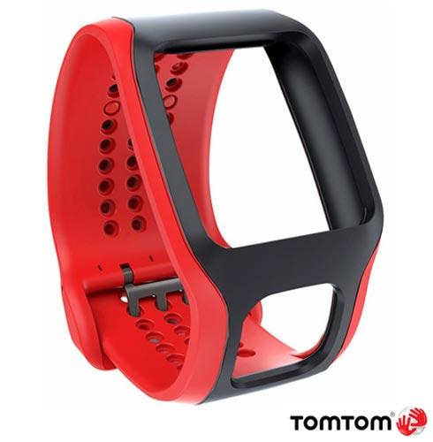 Pulseira TomTom para Runner Confort Vermelha e Preta, Vermelho e Preto, 03 meses, Tomtom, Não, Relógio