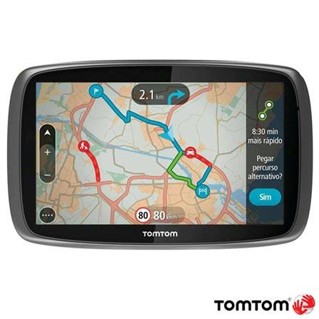 """Navegador GPS Tomtom com Tela Touch Screen de 5"""" LCD, 8GB, Bluetooth e Reconhecimento de Voz Preto - GO 500, Preto, 12 meses, Tomtom, Não"""