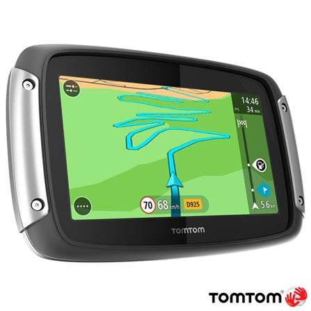 """Navegador GPS para Moto TomTom com Tela Touch Screen de 4,3"""", 8GB, Bluetooth e Alerta de Radar - Rider 400, Preto, 12 meses, Tomtom, Não"""