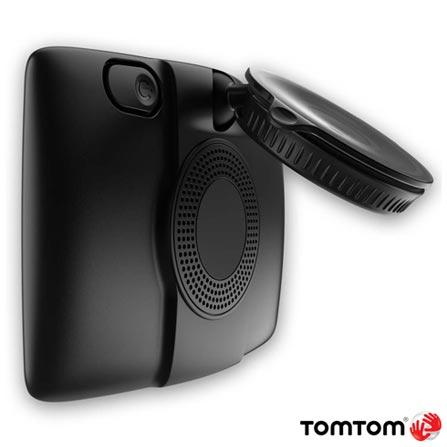 """Navegador GPS Tomtom com Tela Touch Screen 5"""", Reconhecimento de Voz e Modo de Visão 2D e 3D - Via 1535 M Prime, Preto, 12 meses, Tomtom, Não"""