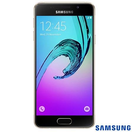 """Samsung Galaxy A3 Dourado Dual com Tela de 4,7"""", 4G, 16 GB e Câmera de 13 MP, Bivolt, Bivolt, Dourado, Acima de 4'', Sim, 12 meses, Android, Sim, Quad Core 1.5 GHz, Sim, Sim, Wi-Fi + 4G, 13.0 MP, Sim, 16 GB, 4.7'', 2, Não, Galaxy A3 Duos, Webfones"""