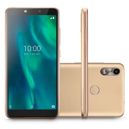 Celular Smartphone Multilaser F P9106 16gb Dourado - Dual Chip