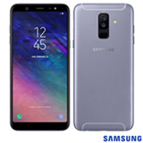 """Samsung Galaxy A6+ Prata, com Tela de 6"""", 4G, 64 GB e Câmera Dual 16MP + 5MP - SMA605"""