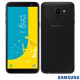 """Samsung Galaxy J6 Preto, com Tela de 5,6"""", 4G, 32 GB e Câmera de 13 MP - SMJ600"""