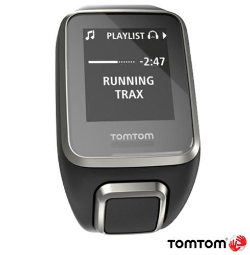 Relogio Tomtom Spark Cardio + Music Premium Preto Large com Pulseira Extra, Preto, 12 meses, Tomtom, Sim, Relógio