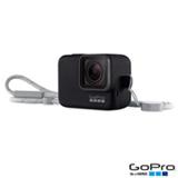 Capa Protetora e Cordão GoPro em Plástico e Silicone para Hero5 Black, Hero6 Black e Hero (2018) Preto - ACSST-001