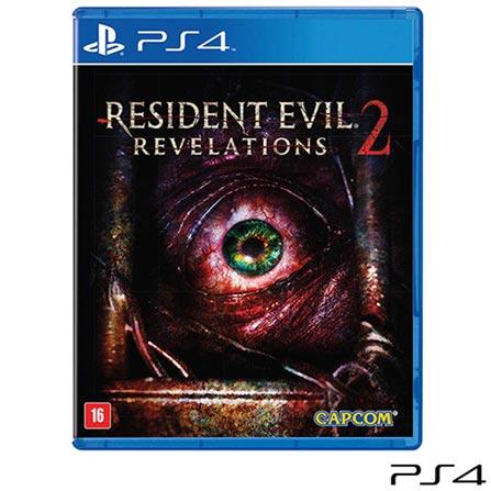 Jogo Resident Evil Revelations 2 com DLC para PS4, Não se aplica, 18 anos, Console PS4, PlayStation 4, Inglês, Inglês, Blu-ray, 03 meses, Webfones