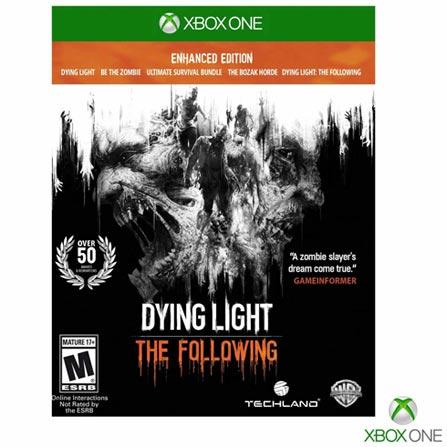 Jogo Dying Light Enhanced Edition para Xbox One, Não se aplica, 18 anos, Console Xbox One, Xbox One, Português, Português, Ação, Blu-ray, 03 meses, Webfones
