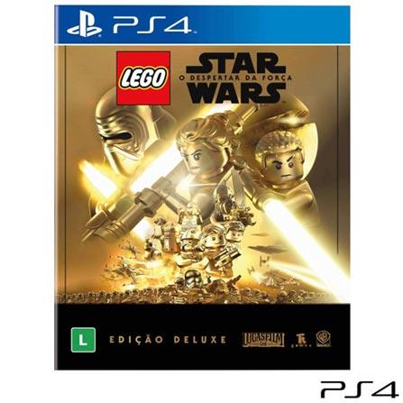 Jogo Lego Star Wars: o Despertar da Força - Edição Deluxe para PS4, Não se aplica, Livre, Console PS4, PlayStation 4, Português, Português, Blu-ray, 03 meses, Webfones
