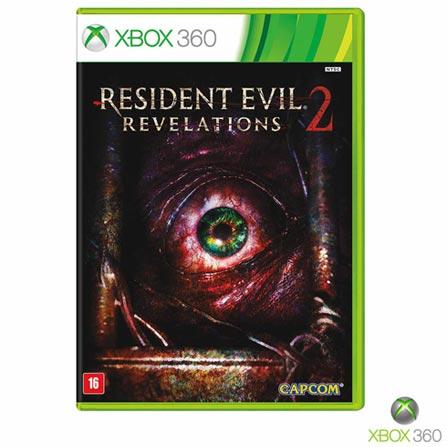 Jogo Resident Evil: Revelations 2 com DLC para Xbox 360, Não se aplica, 18 anos, Console Xbox 360, Xbox 360, Inglês, Português, Terror, DVD, 03 meses, Webfones