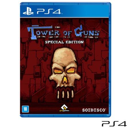 Jogo Tower of Guns Special Edition para PS4, Não se aplica, 14 anos, Console PS4, PlayStation 4, Inglês, Inglês, Blu-ray, 03 meses, Webfones