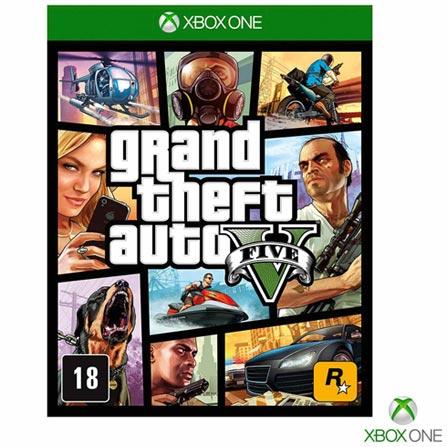 Jogo Grand Theft Auto V para Xbox One, Não se aplica, 18 anos, Console Xbox One, Xbox One, Inglês, Português, Ação, Blu-ray, 03 meses, Webfones