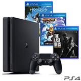 Console Playstation 4 500 GB + 03 Jogos