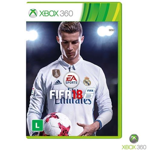 Jogo FIFA 18 para Xbox 360, Não se aplica, Livre, Xbox 360, Português, Esportes, DVD, 03 meses, Webfones