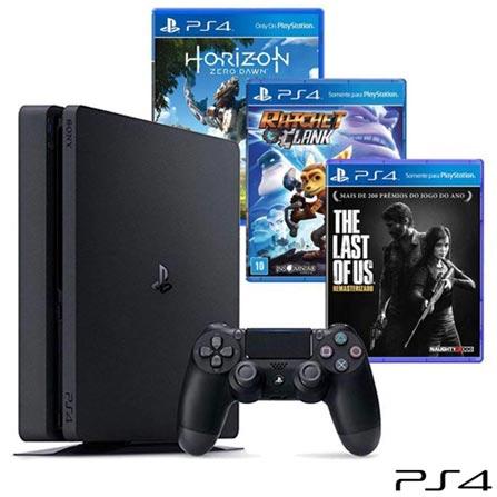 , Bivolt, Bivolt, Preto, Console PS4, PlayStation 4, Blu-ray, 12 meses, Webfones
